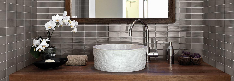 Tile used for backsplash - RETROCLASSIQUE_PEWTER